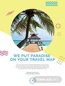 Travel Advertising Poster Template