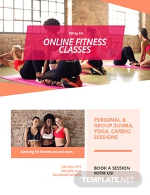 Free Fitness Health Club Flyer Template