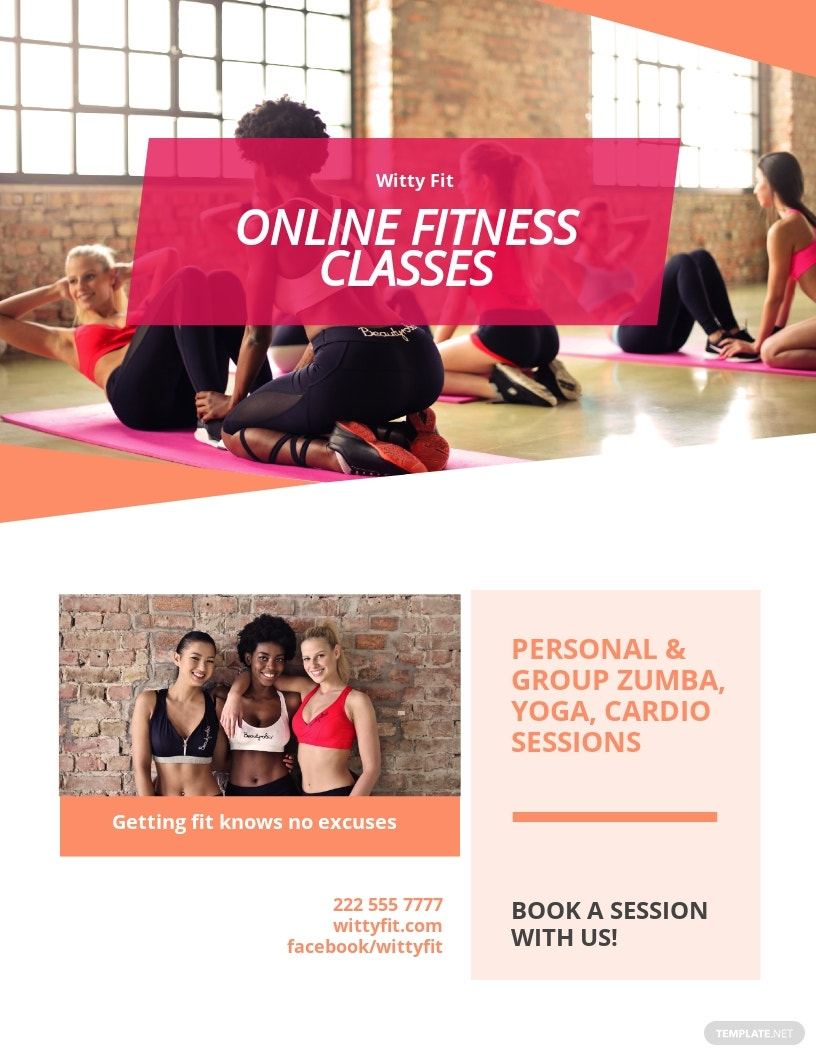 Free Fitness Health Club Flyer Template.jpe