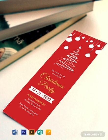Free Christmas Bookmark Template