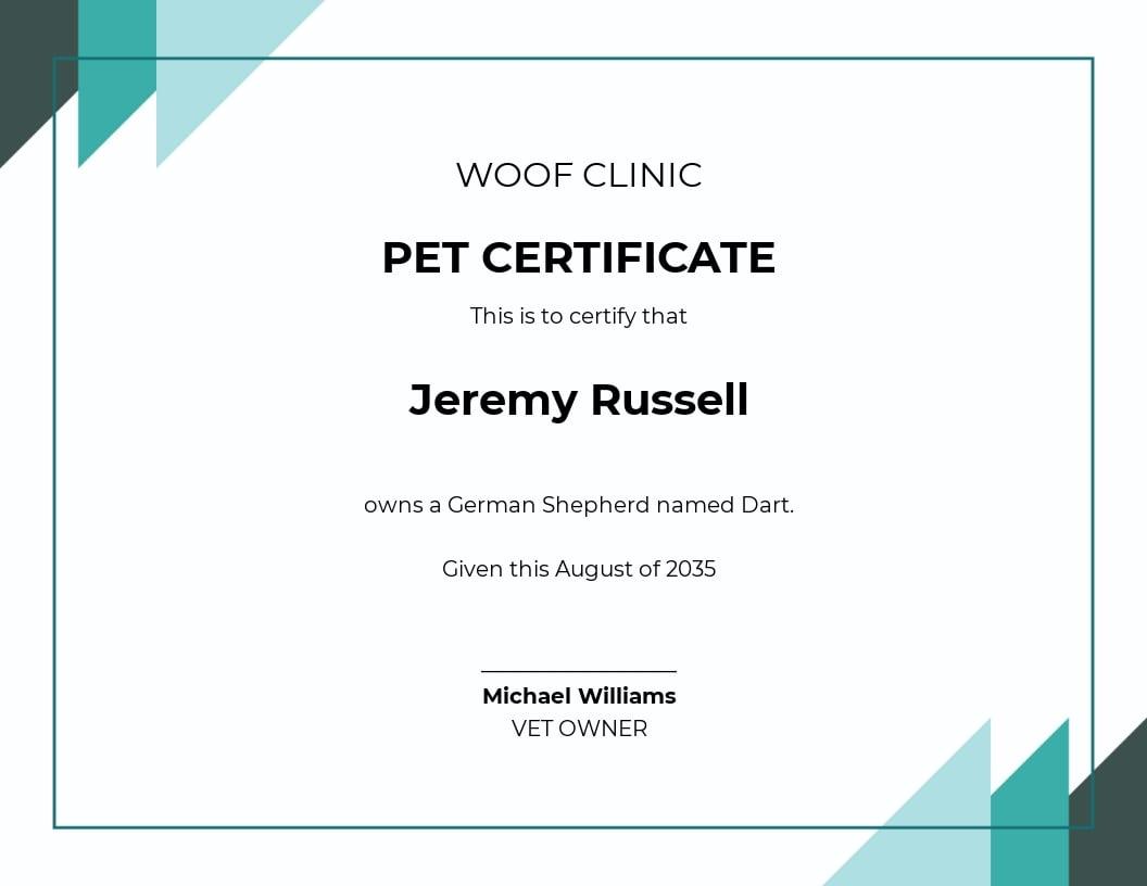 Certificate of Pet Ownership Template.jpe