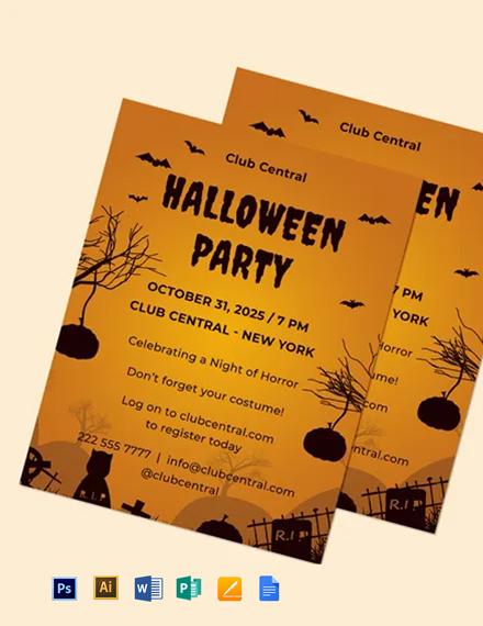 Halloween Event Flyer Template