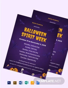 Halloween Spirit Week Flyer Template