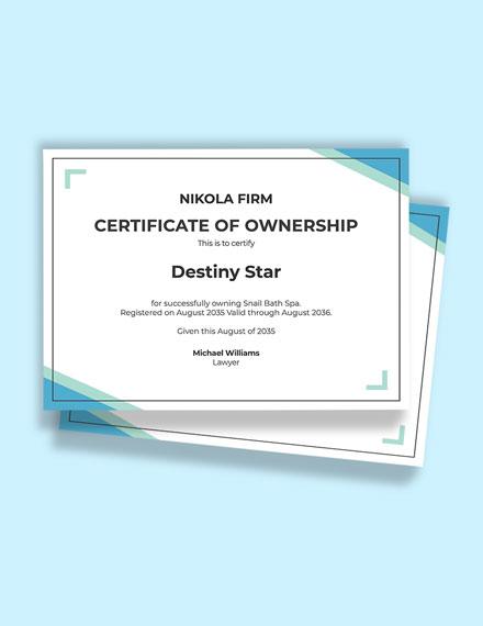 Bath Spa Certificate Template