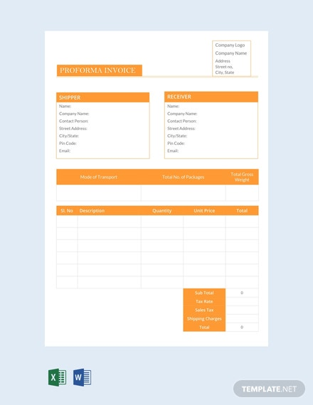 free proforma invoice template download 78 invoices in word excel apple pages numbers pdf illustrator psd templatenet