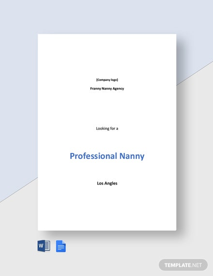 Professional Nanny Job Description Template