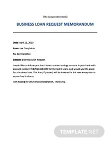 Loan Request Memo