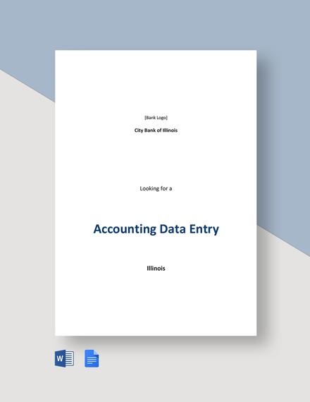 Accounting Data Entry Job Description Template