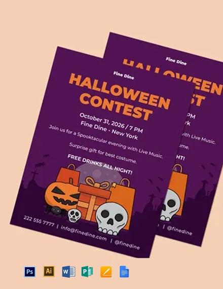 Halloween Contest Flyer Template