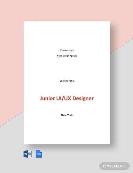 Junior UI/UX Designer Job Description Template