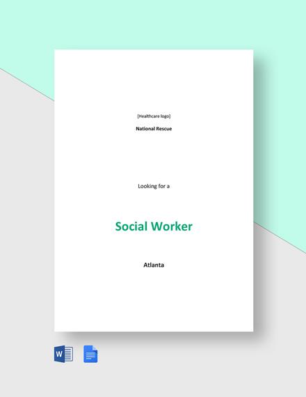 Social Worker Job Description Template