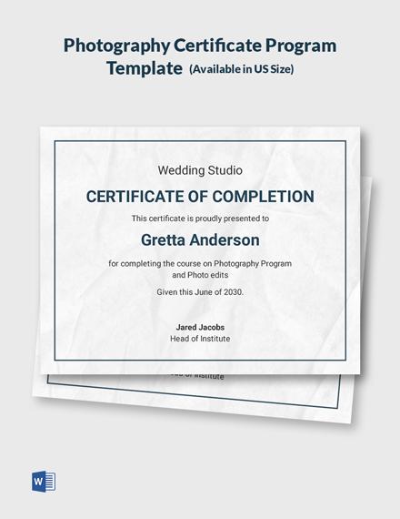 certificate template program