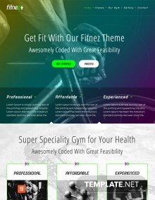 Free Gym HTML5/CSS3 Website Template