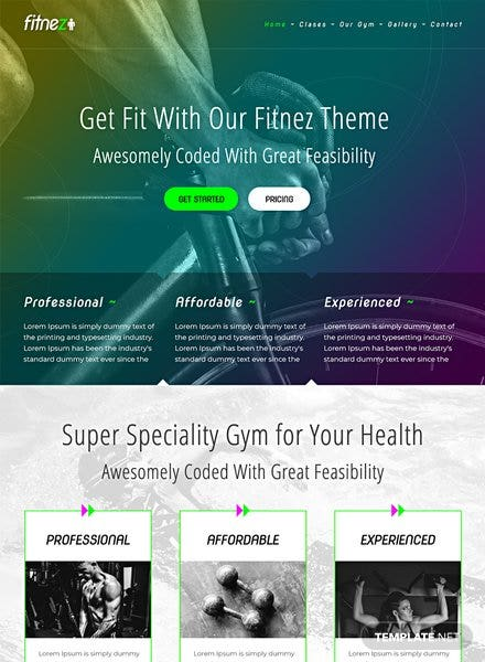 Gym HTML5/CSS3 Website Template