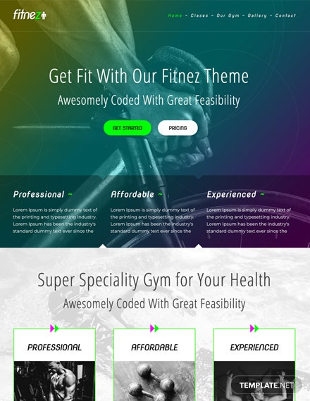 Gym HTML5/CSS3 Website Template