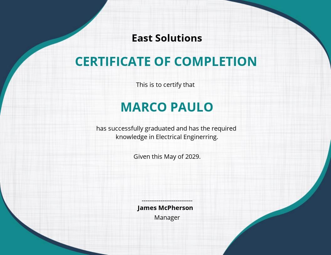 Diploma Graduation Ceremony Certificate Template