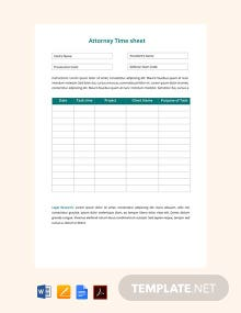 Free Attorney Time Sheet