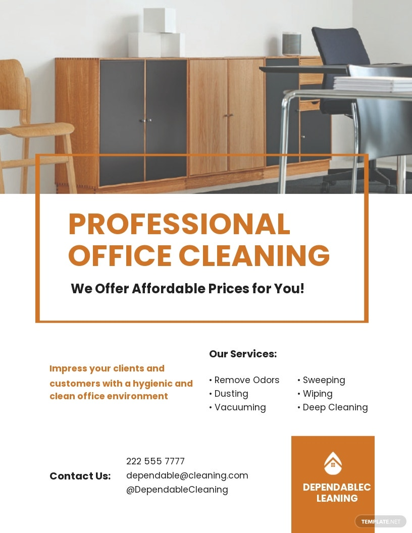 Office Cleaning Service Flyer Template.jpe