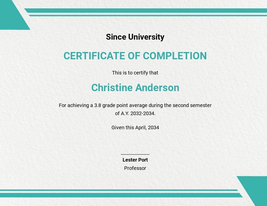 Student Graduation Ceremony Certificate Template