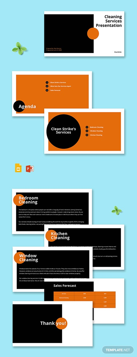 sample Cleaning Services Presentation Template