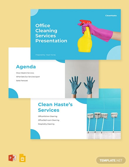 Commercial Cleaning Services Presentation Template