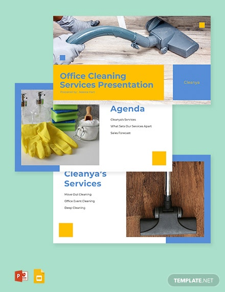 Office Cleaning Services Presentation Template