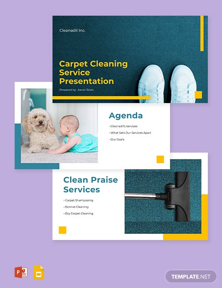 Carpet Cleaning Service Presentation Template