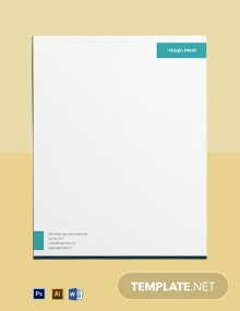 House Cleaning & Maid Services Letterhead Template