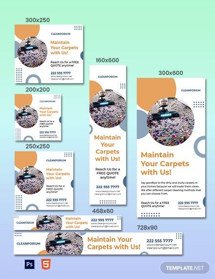 Carpet Cleaning Service Banner Template