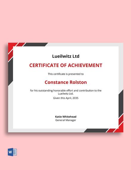 Corporate Business Certificate Template