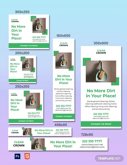 Free Sample Cleaning Services Banner Template