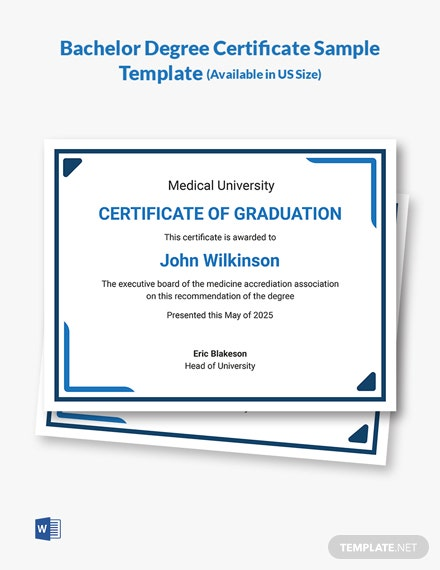 College Degree Certificate Template