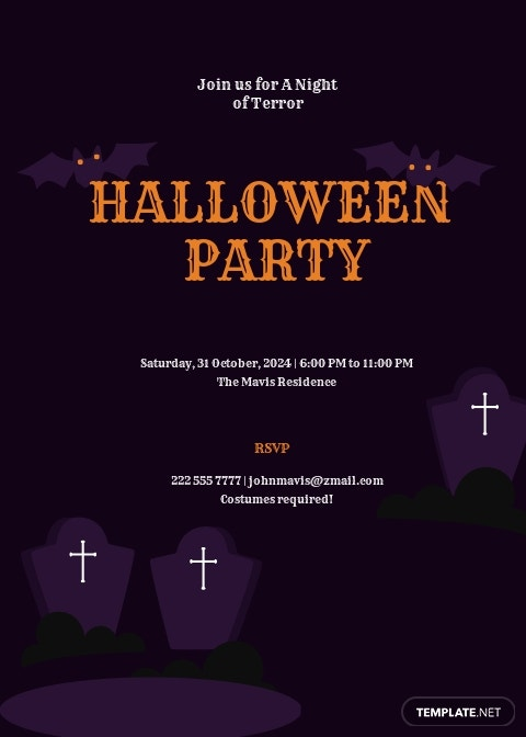 Scary Halloween Invitation Template