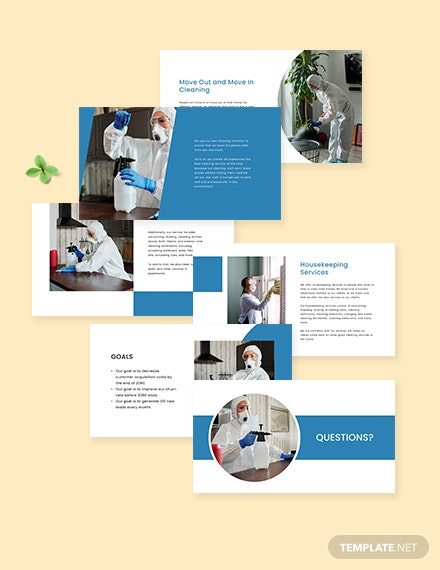 Simple Cleaning Services Presentation Template Editable