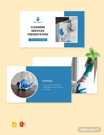Simple Cleaning Services Presentation Template