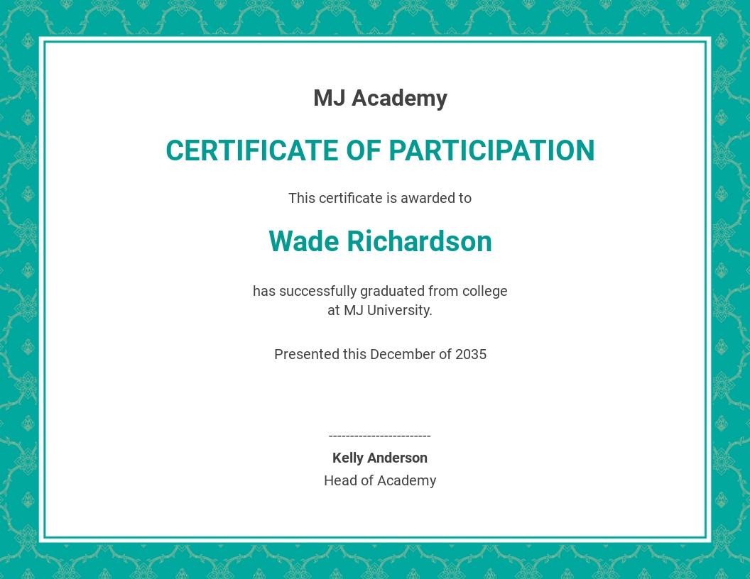 Customizable Graduation Certificate Template