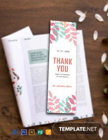 Free Thank You Bookmark Template