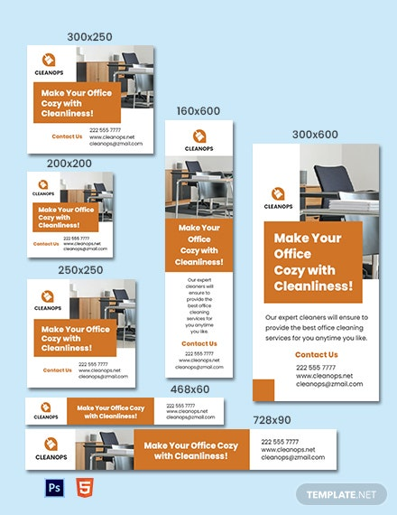 Office Cleaning Service Banner Template