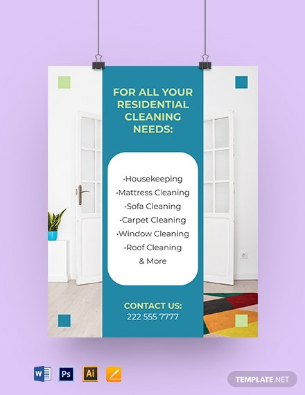 Residential Cleaning Service Yard Sign Template