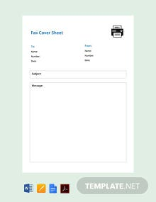 Free Simple Fax Cover Sheet