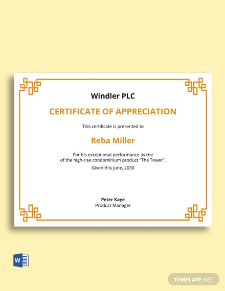 Free Product Management Certificate Template