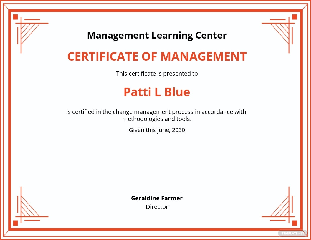 certificate management change template