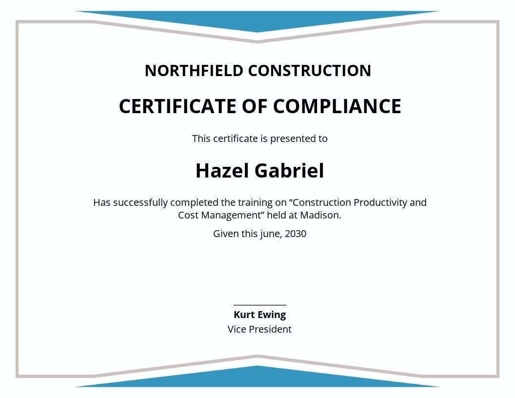 certificate management template construction