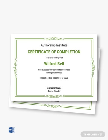 template certification intelligence tools