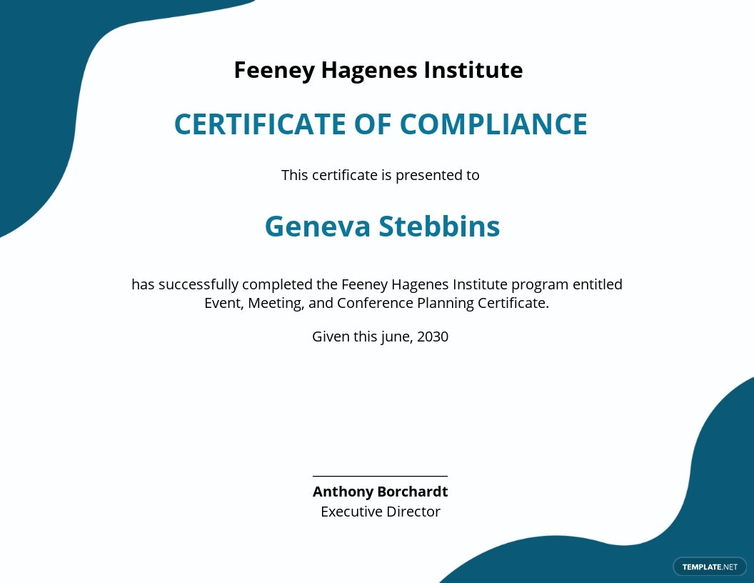 template certificate basic event templates management
