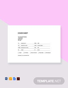 Cover Sheet Template Free Download