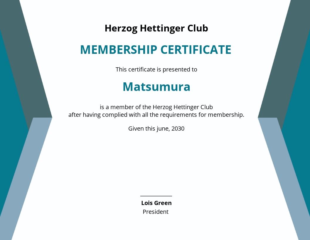 Club Membership Certificate Template.jpe