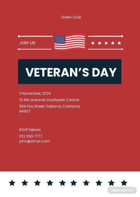 Veterans Day Invitation Template