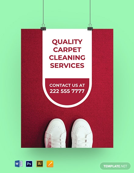 Free Carpet Cleaning Yard Sign Template
