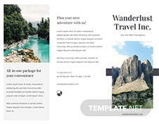 Sample Travel Brochure Template